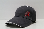 Low profile, structured hat (Red X on front)